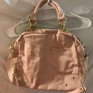 Adorable pastel rose colored cross body bag